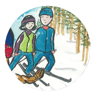 ski de fond / cross country skiing
